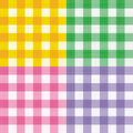 Gingham seamless repeat patterns Stock Photo