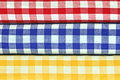Gingham-Tücher Stockbild