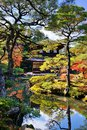 Ginkaku ji temple in kyoto japan during the fall season Stock Image