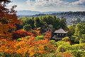 Ginkaku ji temple in kyoto japan during the fall season Royalty Free Stock Photography
