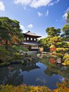 Ginkaku ji temple in kyoto japan during the fall season Stock Images