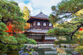 Ginkaku ji temple in kyoto zen officially named jisho built by ashikawa yoshimasa to serve as resting place of shogun Royalty Free Stock Photo
