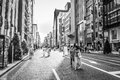 Ginza shoppers and tourists wander the streets of on september in tokyo japan Stock Images