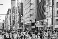Ginza shoppers and tourists wander the streets of on september in tokyo japan Royalty Free Stock Photography