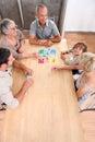 Gioco da tavolo della famiglia Immagine Stock Libera da Diritti