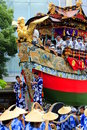 Gion matsuri at kyoto july find similar images a highly decorated float along with its accompanying men in traditional japanese Royalty Free Stock Photography