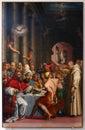 Giorgio vasari, dinner of st gregorius Royalty Free Stock Photo
