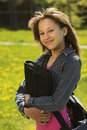 Giovane school-girl teenager Immagine Stock