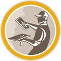 Gipser masonry worker trowel retro Lizenzfreies Stockfoto
