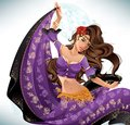 Gipsy dancer beautiful wearing a traditional costume Royalty Free Stock Image