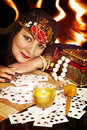 Gipsy foreteller woman Stock Image