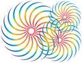 Giradores do espectro Imagens de Stock Royalty Free