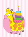 Giraffe birthday illustration of card this eps file info version illustrator eps document inches width height document color mode Royalty Free Stock Images