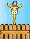Giraffe card template vector illustration of the Royalty Free Stock Images