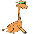 Giraffe Cartoon Vector Illustration Royalty Free Stock Photos