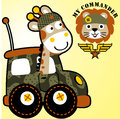 Giraffe and lion are soldier