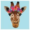 Giraffe low poly