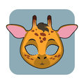 Giraffe mask for festivities Royalty Free Stock Photo