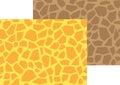 Giraffe Polygon Seamless Pattern