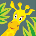 Giraffe portrait vector illustration of head Stock Images