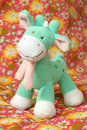 Giraffe soft toy Royaltyfri Bild