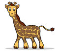 Giraffe vector illustration of a cute Royalty Free Stock Photo
