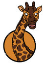 Giraffe zoo icon Stock Image