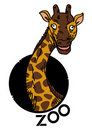 Giraffe zoo icon Stock Images