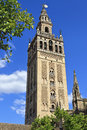 The giralda bell tower of the cathedral of seville in seville spain andalusia Royalty Free Stock Images