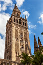 Giralda bell tower seville cathedral spain spire giraldillo statue of saint mary of the see andalusia Royalty Free Stock Photography