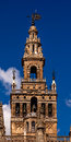 Giralda bell tower seville cathedral spain spire of saint mary of the see andalusia built in the s largest Royalty Free Stock Photos