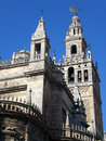 Giralda of seville is the name given to the bell tower the cathedral saint mary the see andalusia spain the lower two Royalty Free Stock Image