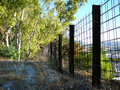 Girder fence above village of alora andalucia Stock Images