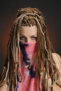 image photo : Girl with an african plaits