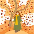 Girl in autumngirl in autumn clothes clothes