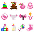 Girl baby object Royalty Free Stock Photo