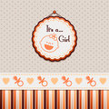 It is a girl background orange Royalty Free Stock Image