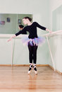 Girl at the ballet class beautiful Royalty Free Stock Photography