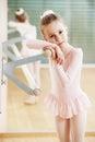 Girl At Ballet Training