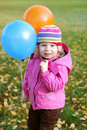Girl with balloons Royalty Free Stock Photography