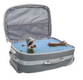 Girl bathes in a suitcase abstract Stock Photography