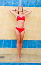 Girl in a bathing suit Royalty Free Stock Image