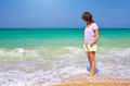 Girl on the beach. Royalty Free Stock Photo