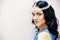 Girl with beautiful adornment on the head photo of Stock Image