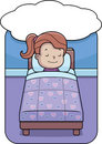 Girl Bedtime Royalty Free Stock Photography