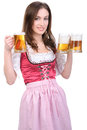 Girl with beer Royalty Free Stock Photo