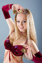 Girl in belly dance dress Royalty Free Stock Photos