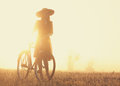 Girl on a bike Royalty Free Stock Photo