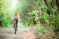 Girl biking Royalty Free Stock Images