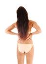 Girl in bikini from back. Royalty Free Stock Photo